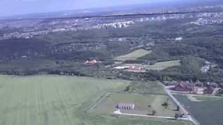 Rc aircraft cam on board - hard landing, Horoměřice