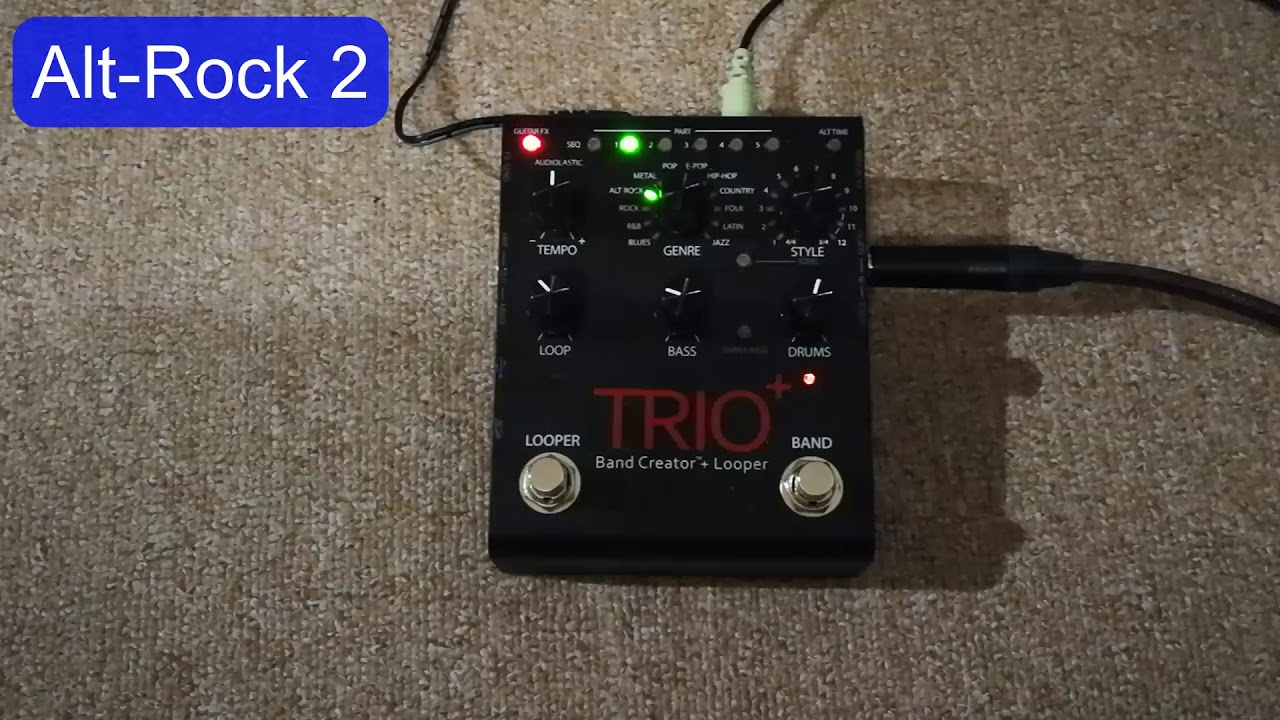 guitar digitech trio plus guitar effects demo youtube. Black Bedroom Furniture Sets. Home Design Ideas