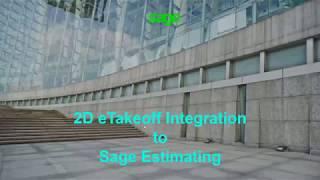 2D eTakeoff Integration to Sage Estimating
