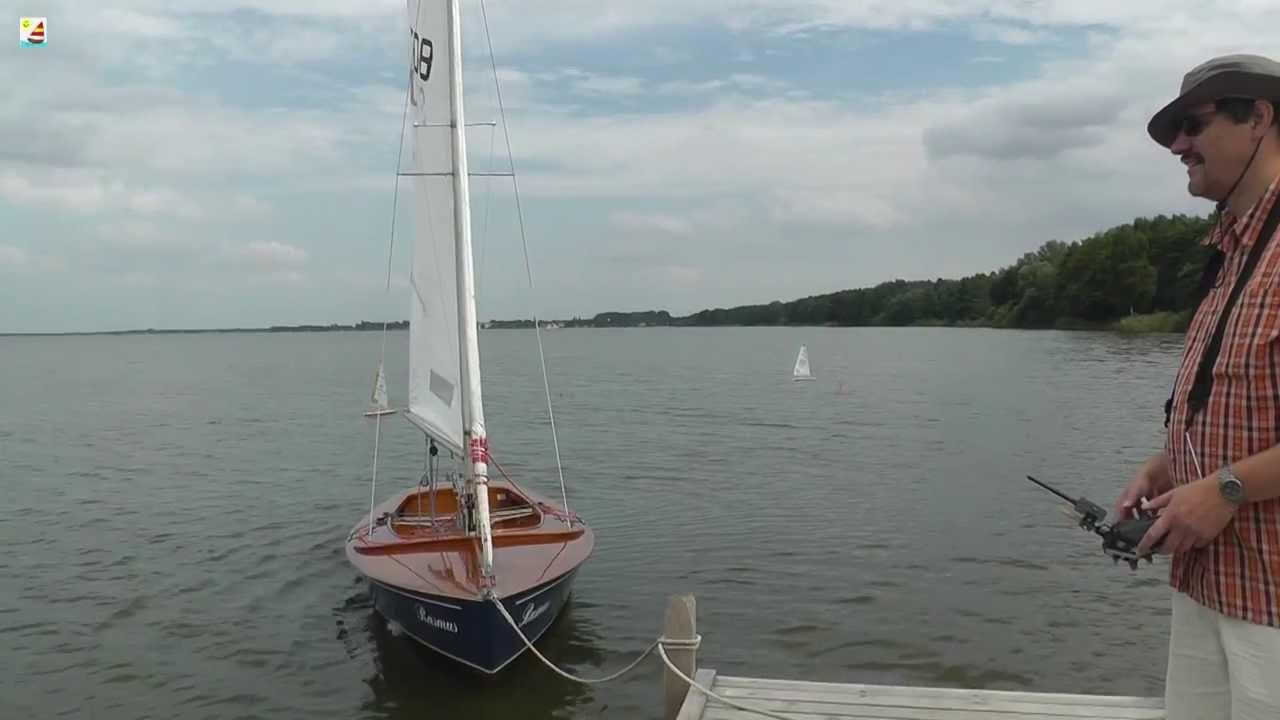 Rc Laser Sailboat Training Steinhuder Meer Youtube