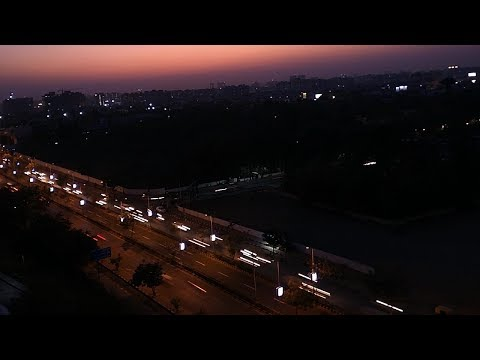 Moving Timelapse of ahmedabad city traffic with Long Exposure light trails.