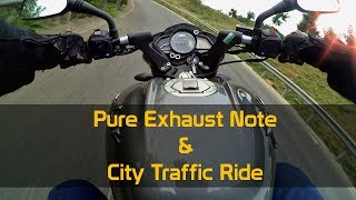 Pure Sound of Pulsar 160 NS || Zipping in Traffic  ||  Exhaust Melody