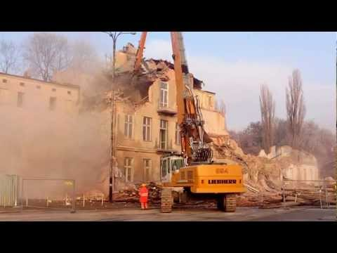 2- Construction of the railway station - Disposal of old houses - PKP Lodz Poland 2012