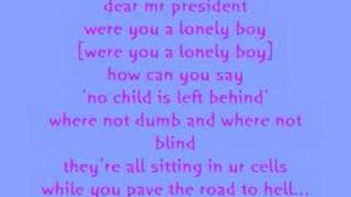 Pink Dear Mr President W/lyrics