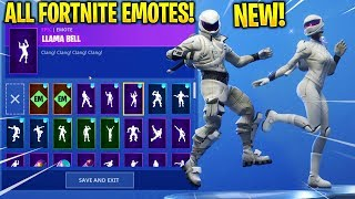 *NEW* WHITEOUT SKIN SHOWCASE WITH ALL FORTNITE DANCES & EMOTES!