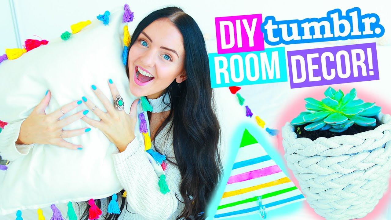 diy room decor tumblr and pinterest inspired easy and affordable 2016 youtube. Black Bedroom Furniture Sets. Home Design Ideas