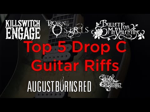 My Top 5 Drop C Guitar Riffs (Metalcore Guitar Riff Compilation)