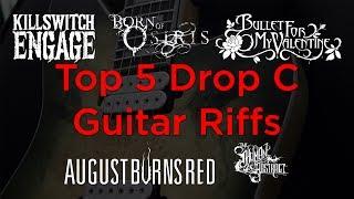 My Top 5 Drop C Guitar Riffs (Metalcore Guitar Riff Compilation)