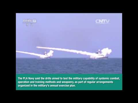 Chinese Navy conducted live ammunition combat drills in the Bohai Sea & the Yellow Sea