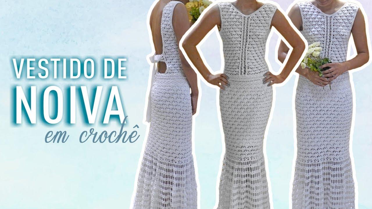 Vestido De Noiva Em Crochê Vídeo Completo
