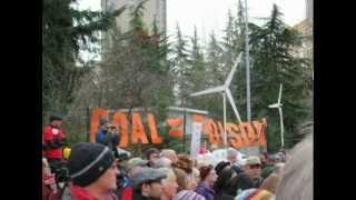 Coal Train Rally and Hearing, Freeway Park, Seattle, WA, 12/13/12