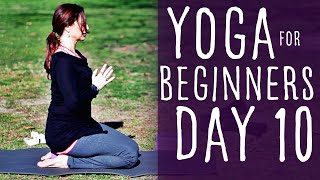 18 Minute Yoga For Beginners 30 Day Challenge Day 10 With Fightmaster Yoga