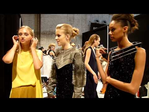 Backstage at Frans Molenaar Prijs 2010 / AIFW S/S 2011