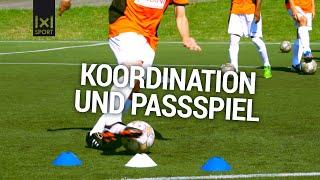 Passtraining für Jugend-Fußballtraining -  Passschleife - Fußballübung mit Ingo Anderbrügge