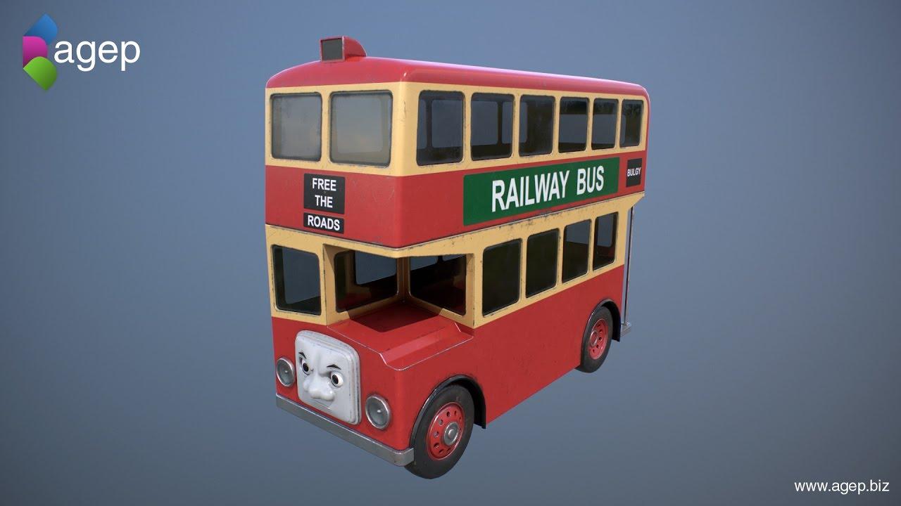 Downloadable! Bulgy (3D) - Thomas & Friends Fanart