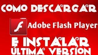 Como descargar e instalar adobe flash player en canaima 2017
