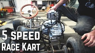 We're Building a 5 Speed Racing Kart! (16HP)