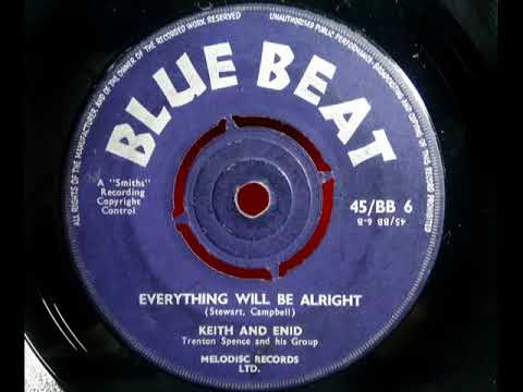 KEITH & ENID - Everything Will Be Alright - BLUE BEAT BB 6 - UK 1960 JA R&B Dancer