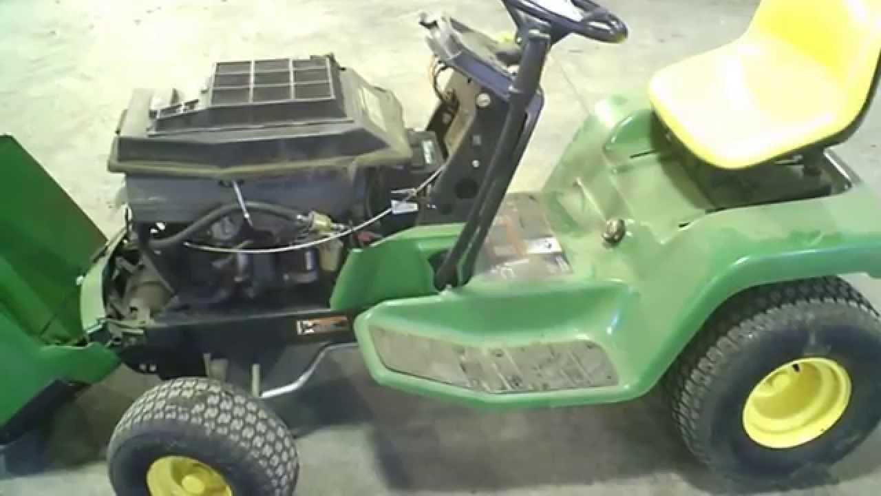 John Deere 178 Lawn Tractor : Lot a john deere lx mower running driving tear down