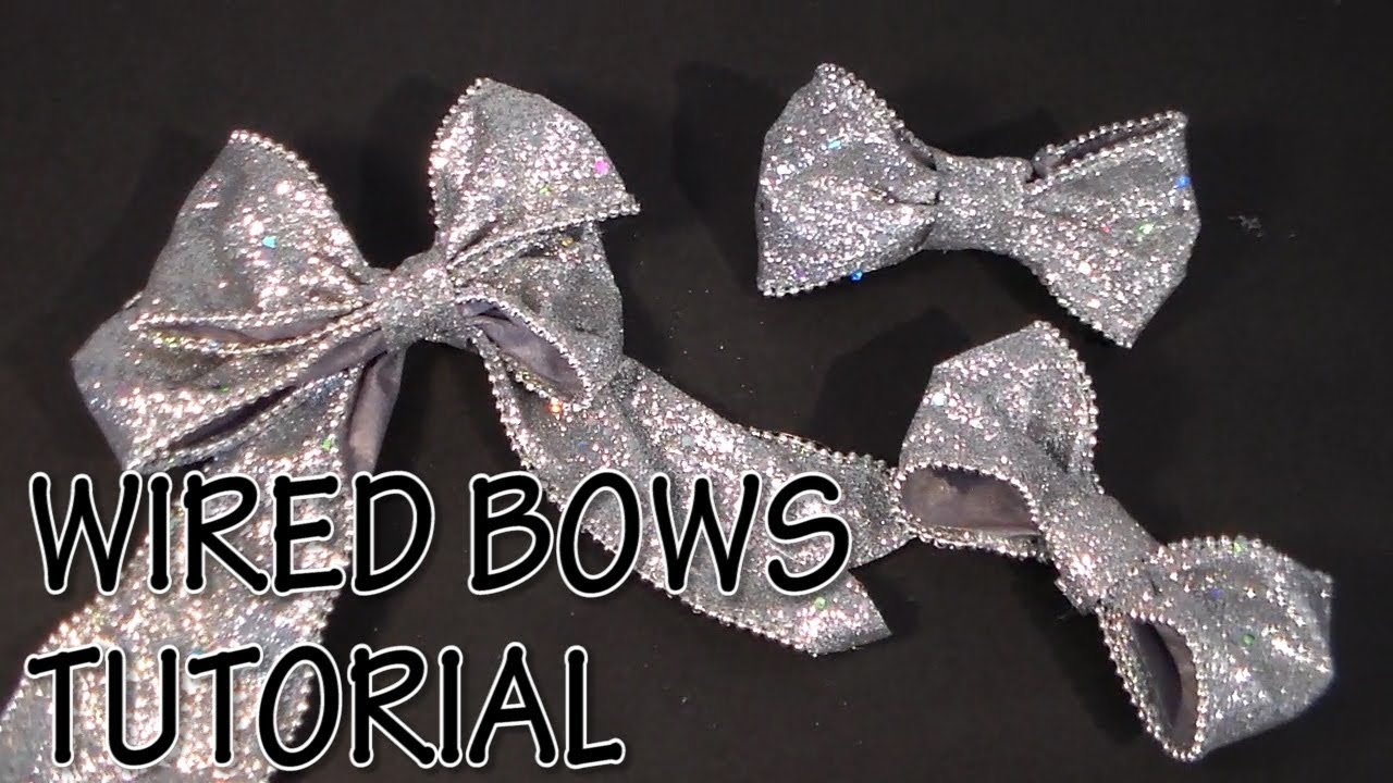 HOW TO MAKE WIRED BOWS TUTORIAL by Cup n Cakes Gourmet - YouTube