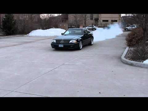 1994 SL74 burnout--one wheel? - YouTube
