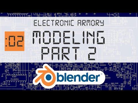 3D Blender Beginner Tutorial - Part 2 - More tools and techniques