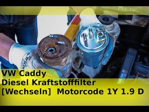 vw caddy diesel kraftstofffilter wechseln motorcode 1y 1. Black Bedroom Furniture Sets. Home Design Ideas