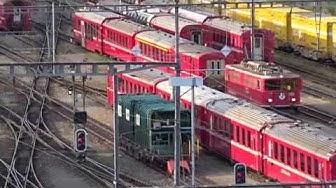 Bahnhof Landquart Rhätische Bahn SBB und DB (ICE) Rangier- und Durchfahrten