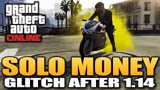 GTA 5 Online - Solo Money Glitch After Patch 1.14 *BEST METHOD* (GTA 5 Glitches)