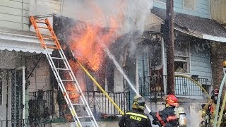 3 Alarm Rowhome Fire - Shenandoah, PA - 12/31/13