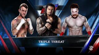 WWE 2K15 Sheamus vs CM Punk vs Roman Reigns Triple Threat Match 2015 (PS4) HD