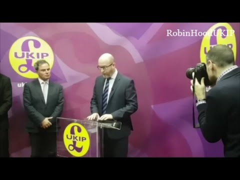 UKIP leader Paul Nuttall announces running in Stoke by-election