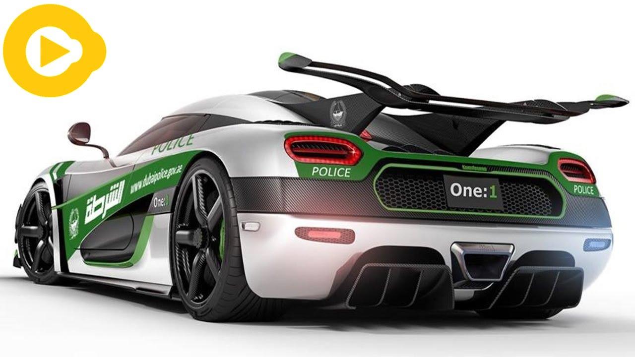 Top 10 Autos Super Deportivos de la Policía de Dubai - YouTube