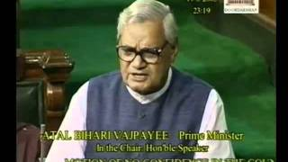 No-Confidence motion in the council of Ministers: Sh. Atal Bihari Vajpayee Ji: 19.08.2003