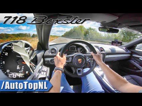 PORSCHE 718 BOXSTER | TOP SPEED on AUTOBAHN | NO SPEED LIMIT by AutoTopNL