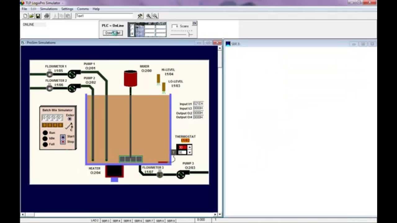 Clp - Logixpro - Misturador Autom U00e1tico - Linguagem Ladder  Batch Simulator