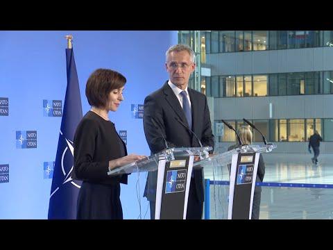 NATO Secretary General with Prime Minister of Republic 🇲🇩Moldova Maia Sandu, 03 JUL 2019