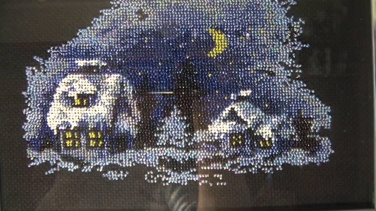Вышивка бисером день ночь