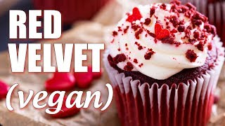 How To Make Vegan Red Velvet Cupcakes With Cream Cheese Frosting!