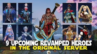 9 UPCOMING REVAMPED HEROES IN THE ORIGINAL SERVER MOBILE LEGENDS NEW REVAMPED HEROES GAMEPLAY MLBB