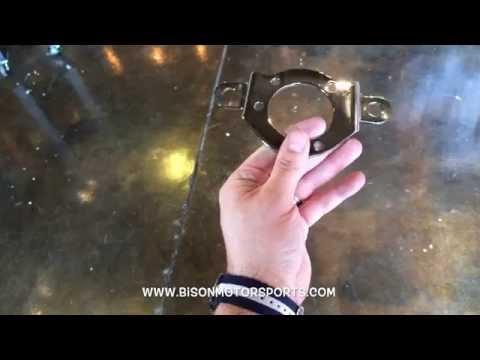 Air Cleaner Support Bracket Harley-Davidson Sportster CV Carburetor - Polished Stainless Steel