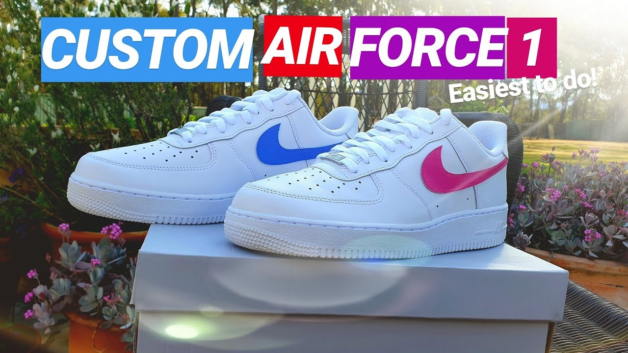 Easy Custom Airforce 1 Easy Back To School Af1 Youtube