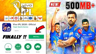 [500MB] Best VIVO IPL 2020 Cricket Game For Android - Download Now | REALISTIC Graphics