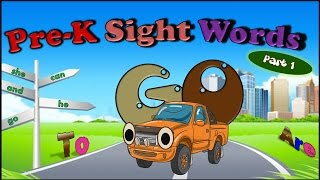 Pre K Spelling Words Song - Part 1   Learn To Read and Spell Nine Sight Words With This FUN Song!!