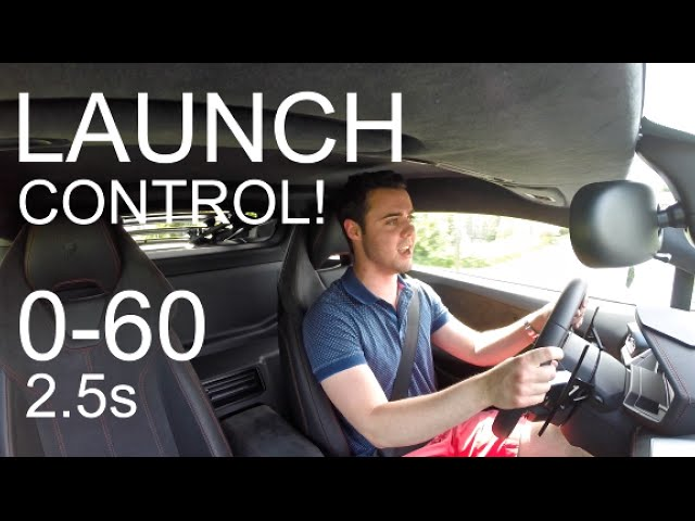 HOW TO DO LAUNCH CONTROL IN A LAMBORGHINI HURACAN! (0-60 mph in 2.5 seconds!)