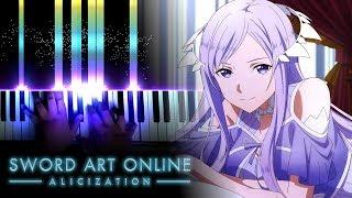 """[Sword Art Online: Alicization Episode 19 ED / Ending 3] """"Niji no Kanata ni"""" - ReoNa (Piano)"""