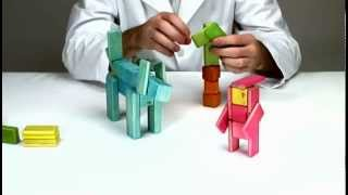 Magnetic Wooden Toys Tegu - Building Little Red Riding Hood And The Wolf