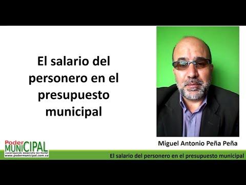 El salario del personero en el presupuesto municipal
