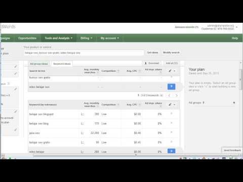 Panduan cara riset keyword atau mencari kata kunci dengan google planner..