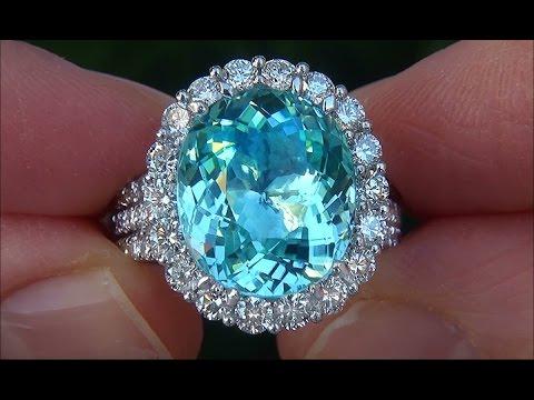 HIGH END 14K GREEN PARAIBA TOURMALINE DIAMOND RING NO RESERVE .